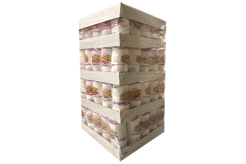 Bulk of wraped display pallet of 9 inches white foam plates with 100 count each