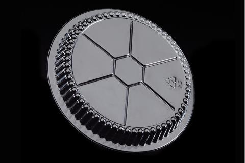 9 inches Clear Transparent OPS Round Crystalline Dome Lid for aluminum Pans