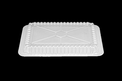 Clear Transparent OPS Dome Lid for Aluminum Oblong Foodservice Pans